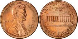 Us Coins - United States, Lincoln Cent, Cent, 1988, U.S. Mint, Denver, , Copper