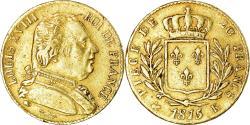 World Coins - Coin, France, Louis XVIII, 20 Francs, 1815, Bordeaux, , Gold, KM:706.3