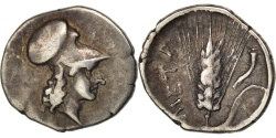 Ancient Coins - Lucania, Metapontion, Diobol, , Silver, Johnston F21