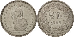 World Coins - Switzerland, 1/2 Franc, 1983, Bern, AU(55-58), Copper-nickel, KM:23a.3