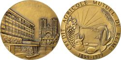 World Coins - France, Medal, Crédit Agricole Mutuel de Reims, Pichard, MS(63), Bronze