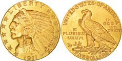 Us Coins - Coin, United States, Indian Head, $5, Half Eagle, 1911, Philadelphia,