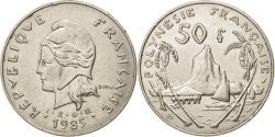 World Coins - French Polynesia, 50 Francs, 1985, Paris, , Nickel, KM:13