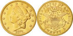 Us Coins - Coin,United States,Liberty Head,$20,1871,San Francisco,Gold,AU(50-53),KM 740.2