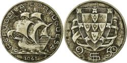 World Coins - Coin, Portugal, 2-1/2 Escudos, 1945, , Silver, KM:580