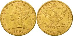Us Coins - United States, Coronet Head, $10, 1892, Philadelphia, , Gold, KM:102
