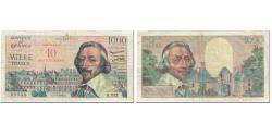 World Coins - France, 10 Nouveaux Francs on 1000 Francs, 1955-1959 Overprinted with ''Nouveaux