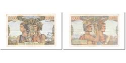 World Coins - France, 5000 Francs, Terre et Mer, 1951, 1951-04-05, EF(40-45), Fayette:48.04