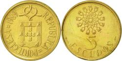 World Coins - Portugal, 5 Escudos, 1989, , Nickel-brass, KM:632