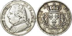 World Coins - Coin, France, Louis XVIII, Louis XVIII, 5 Francs, 1814, Rouen,