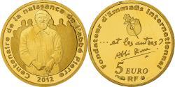 Ancient Coins - France, Monnaie de Paris, 5 Euro, Abbé Pierre, 2012, , Gold, KM:1896