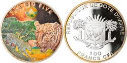 World Coins - Coin, Ivory Coast, Léopard, 100 Francs CFA, 2010, Proof, , Silver