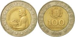 World Coins - Coin, Portugal, 100 Escudos, 1991, , Bi-Metallic, KM:645.2