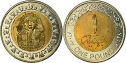 World Coins - Coin, Egypt, Pound, 2007/AH1428, Cairo, , Bi-Metallic, KM:940a