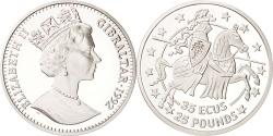 World Coins - GIBRALTAR, 35 Ecus-25 Pounds, 1992, KM #110, , Silver, 28.28