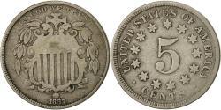 Us Coins - United States, Shield Nickel, 5 Cents, 1867, U.S. Mint, Philadelphia,