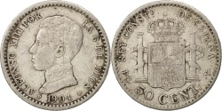 World Coins - Spain, Alfonso XIII, 50 Centimos, 1904, , Silver, KM:723