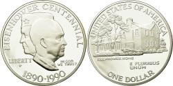 Us Coins - Coin, United States, Eisenhower centennial, Dollar, 1990, U.S. Mint