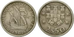 World Coins - Coin, Portugal, 2-1/2 Escudos, 1967, , Copper-nickel, KM:590
