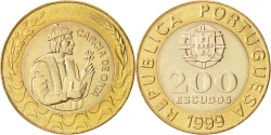 World Coins - Portugal, 200 Escudos, 1999, , Bi-Metallic, KM:655
