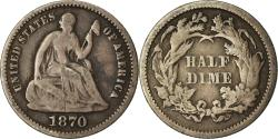 Us Coins - Coin, United States, Seated Liberty Half Dime,1870,Philadelphia,, KM 91