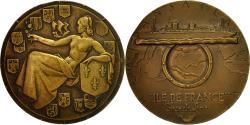 World Coins - France, Medal, Compagnie Générale Transatlantique, Ile-de-France, Renard