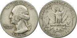 Us Coins - Coin, United States, Washington Quarter, Quarter, 1952, U.S. Mint, Philadelphia