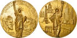 World Coins - France, Medal, Statue de la Liberté, Gustave Eiffel, Bartholdi, 1986