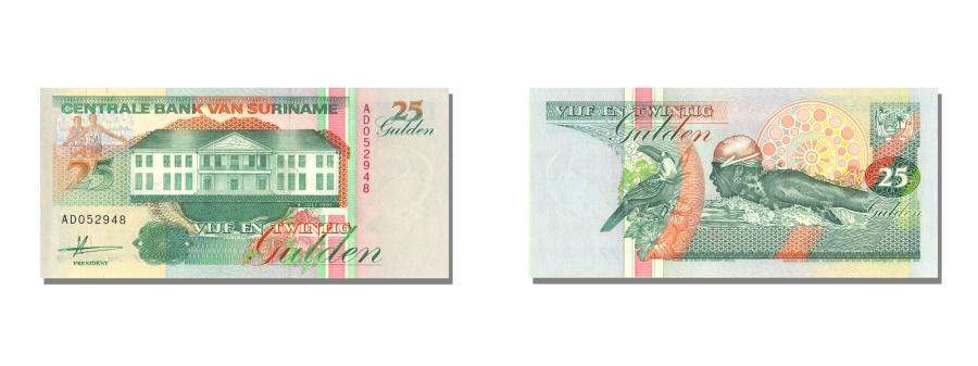 World Coins - Suriname, 25 Gulden, 1991, KM #138a, 1991-07-09, UNC(65-70), AD