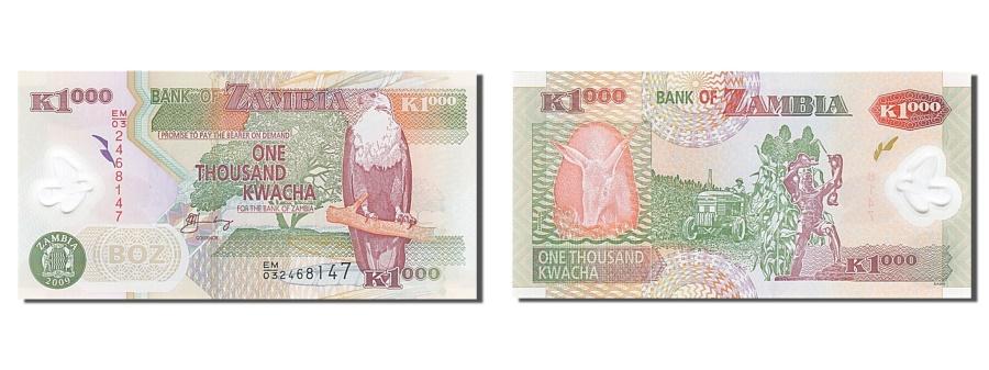World Coins - Zambia, 1000 Kwacha, 2009, KM #44d, UNC(65-70), EM/032468147