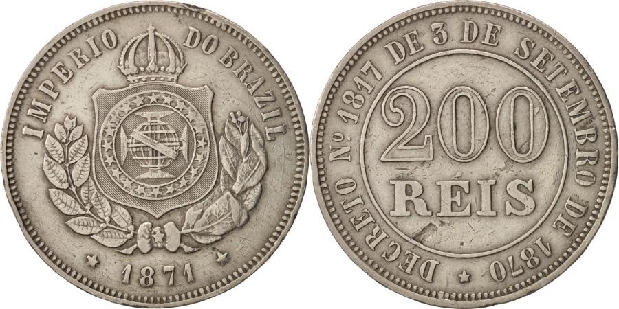 World Coins - Portugal, Luiz I, 200 Reis, 1871, , Silver, KM:512