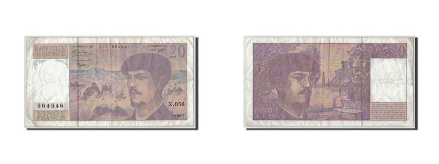 World Coins - France, 20 Francs Debussy, 1997, KM:151i, Fayette:66ter.2, F(12-15)