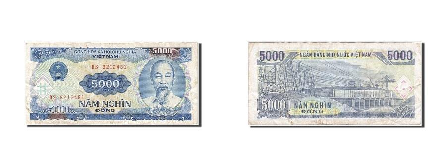 World Coins - Viet Nam, 5000 Dng, 1991, KM #108a, VF(20-25), DS 9212481