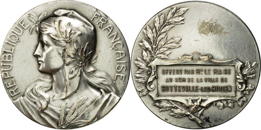 World Coins - France, Medal, Marianne, Ville de Sotteville-Les-Rouen, Huguenin,