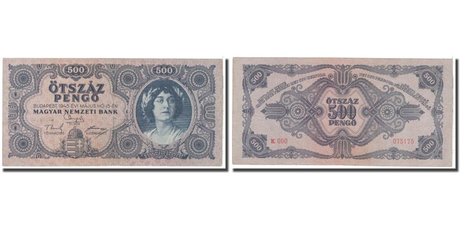 World Coins - Banknote, Hungary, 500 Pengö, 1945, 1945-07-15, KM:117a, EF(40-45)