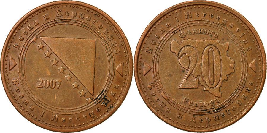 World Coins - Coin, BOSNIA-HERZEGOVINA, 20 Feninga, 2007, , Copper Plated Steel