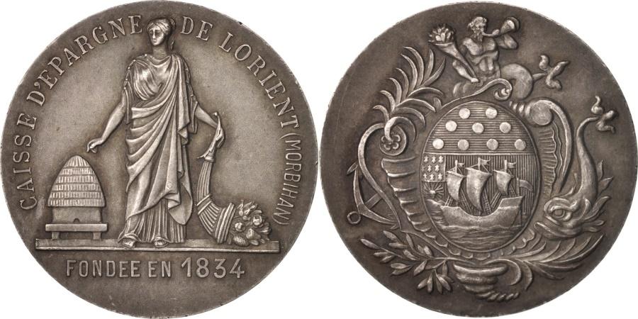 World Coins - France, Token, Savings Bank, Caisse d'Épargne de Lorient, , Silver