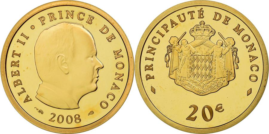 World Coins - Monaco, 20 Euro, 2008, , Gold, KM:198
