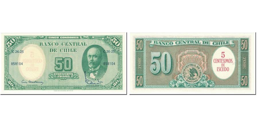 50 Pesos Chile 1960-61 Banknote UNC