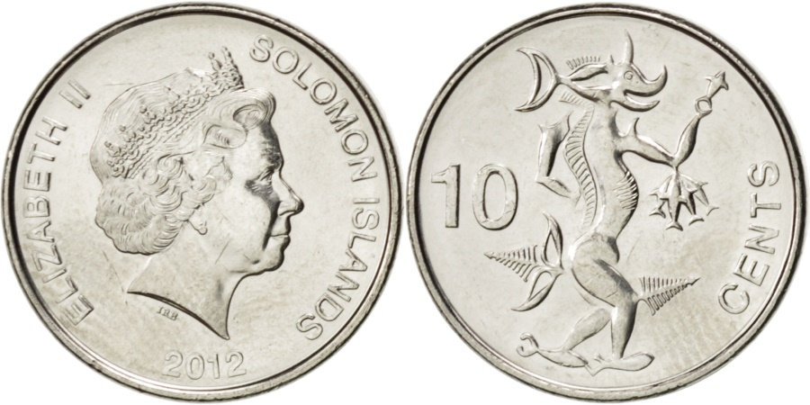 2012 Solomon Islands 10 cents Sea Spirit Ngoreru coin