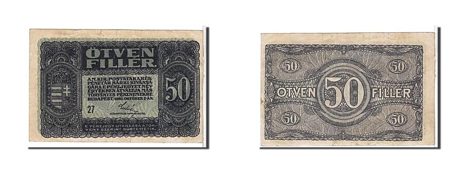 World Coins - Hungary, 50 Fillér, 1920, KM #44, EF(40-45), 27
