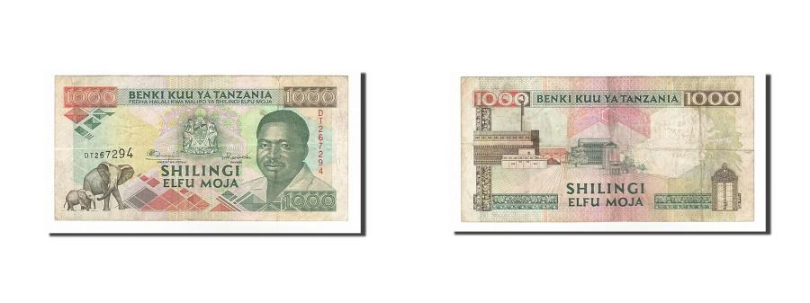World Coins - Tanzania, 1000 Shilingi, 1993, KM #27b, VF(30-35), DT267294