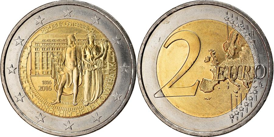 World Coins - Austria, 2 Euro, Banque nationale, 2016, , Bi-Metallic