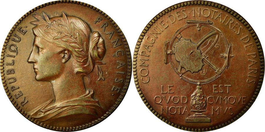 World Coins - France, Token, Notary, 1893, AU(55-58), Bronze, Lerouge:322e