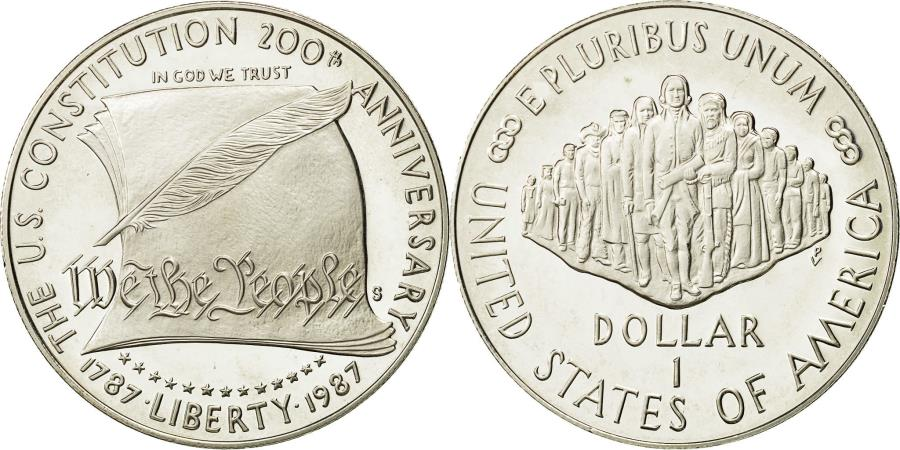 US Coins - Coin, United States, Dollar, 1987, U.S. Mint, San Francisco, , Silver