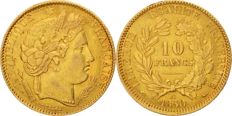 World Coins - France, Cérès, 10 Francs, 1850, Paris, , Gold, KM:770, Gadoury:1012