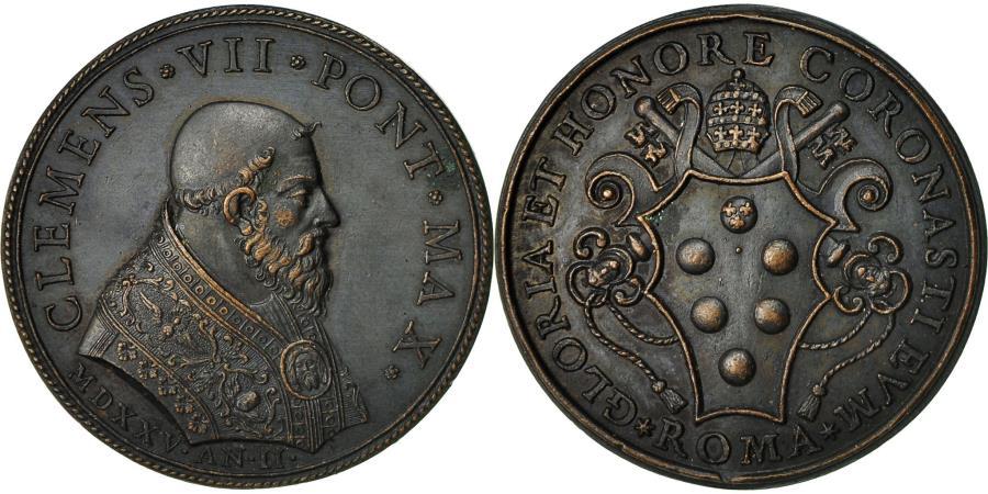 World Coins - Italy, Medal, Etats Pontificaux, Clément VII, 1525, , Bronze