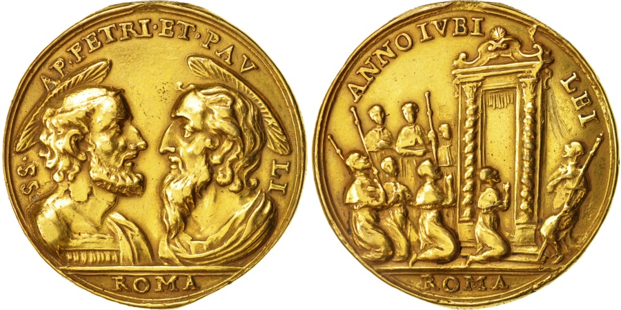 World Coins - Italy, Medal, St Peter and Paulus, Religions & beliefs, XVIIIth Century