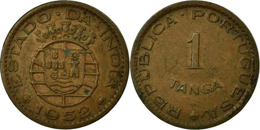 World Coins - Coin, INDIA-PORTUGUESE, Tanga, 60 Reis, 1952, , Bronze, KM:28