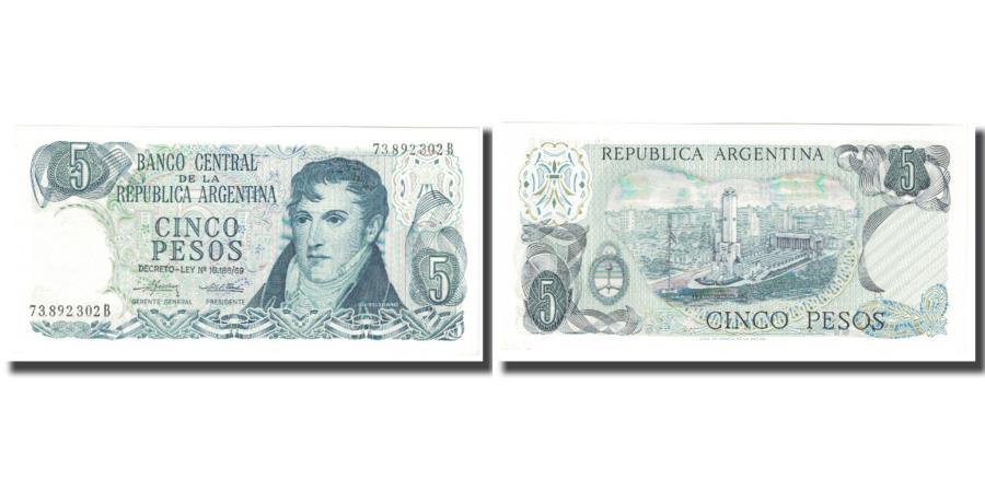World Coins - Banknote, Argentina, 5 Pesos, KM:288, UNC(65-70)